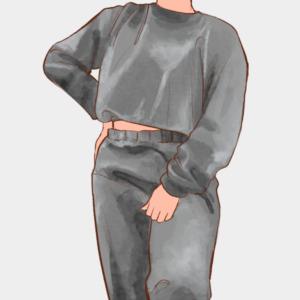 Conjunto de plush peluche jogger y casaca