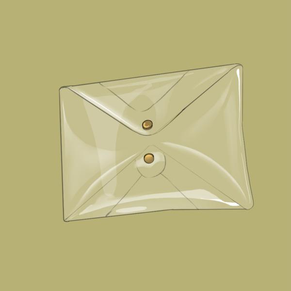 Mini clutch transparente diseño