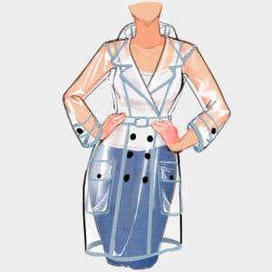 Vista frontal chaqueta antifluidos